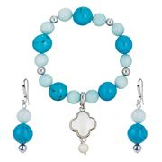 Bowerhaus - Howlite Bracelet & Earrings Set