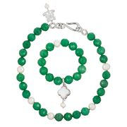 Bowerhaus - Aventurine Necklace & Bracelet Set