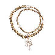 Bowerhaus - Dazzle Wrap Gold Bracelet