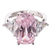Bowerhaus - Hello Lover Mr Big Pink Ring Size 8