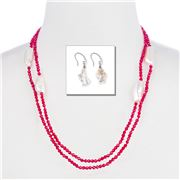 Bowerhaus - Keishi Pearl Red Bedazzle Gift Set