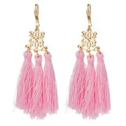 Bowerhaus - Pink Tassel Earrings
