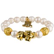 Bowerhaus - Joy Luck Club Freshwater Pearl Gold Kirin