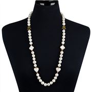 Bowerhaus - Lucky Charms Gold Freshwater Pearl Necklace