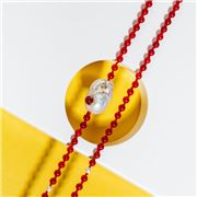 Bowerhaus - Gilded Baroque Necklace Red