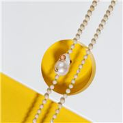 Bowerhaus - Gilded Baroque Necklace Peach