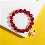 Bowerhaus - Gilded Baroque Bracelet Red