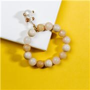Bowerhaus - Gilded Baroque Bracelet Peach