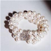 Bowerhaus - Maryanne Triple Strand Pearl Bracelet