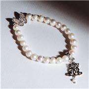 Bowerhaus - Maryanne Butterfly Pearl Bracelet