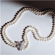 Bowerhaus - Maryanne Double Strand Star Pearl Necklace