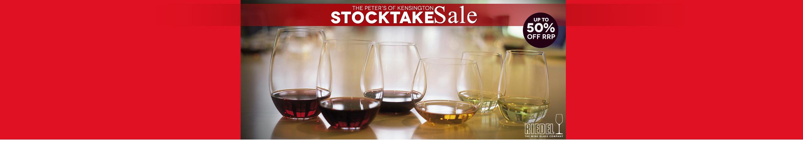 Stocktake Sale Riedel Glassware