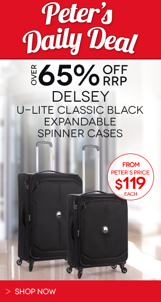 Peters Daily Deal Delsey U Lite Black Luggage