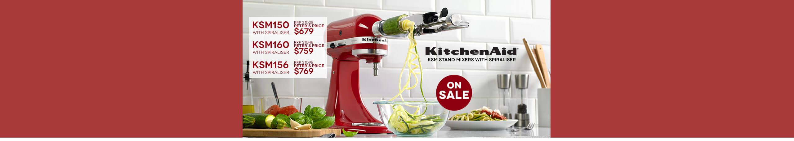 KitchenAid Stand Mixers with Spiraliser